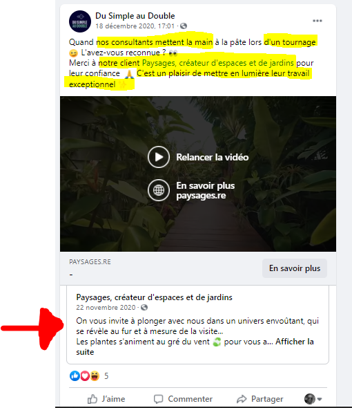 Exemple post Facebook 4